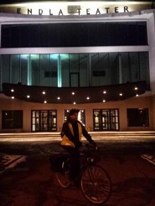 Traveling with bicycle theater - Keskväljak (Estonia)