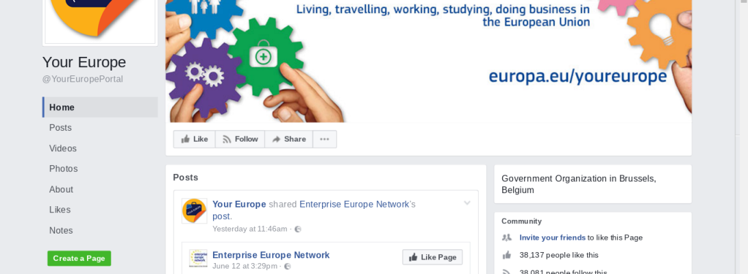 European Union Facebook page