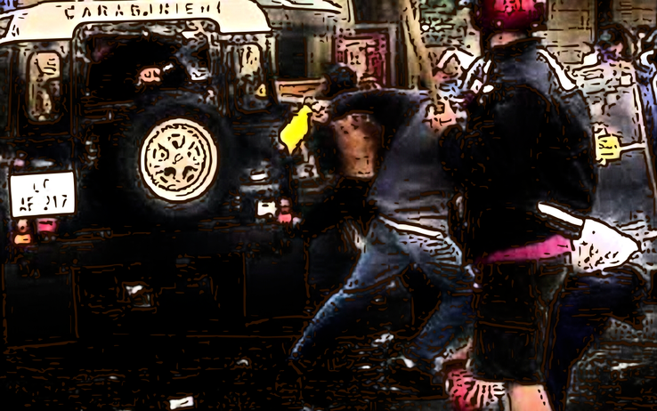 Carabinieri shooting at Carlo Giuliani G8 Genoa