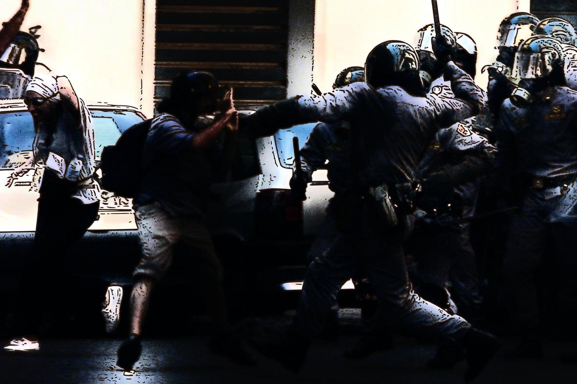 Italian Police during the Genoa G8